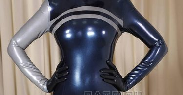 Sexy Lady Latex Dress Latex Fashion