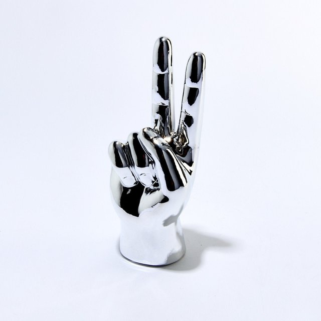 Silver Peace Hand