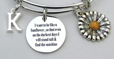 SunFlower Bangle I Want To Be Like A Sunflower So That