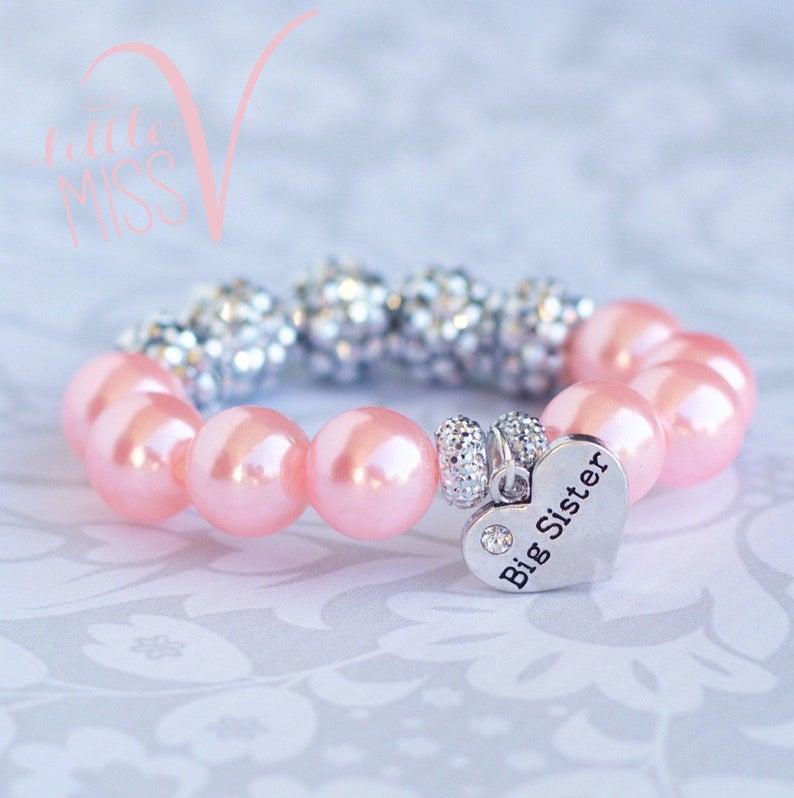 Super Sparkle Big Sister bracelet. Big sister gift. Little