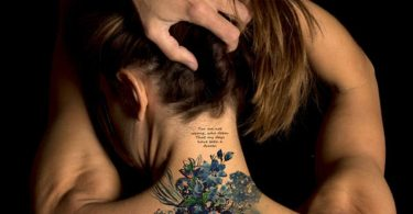 Supperb Large Temporary Tattoos  Watercolor Blue Flowers