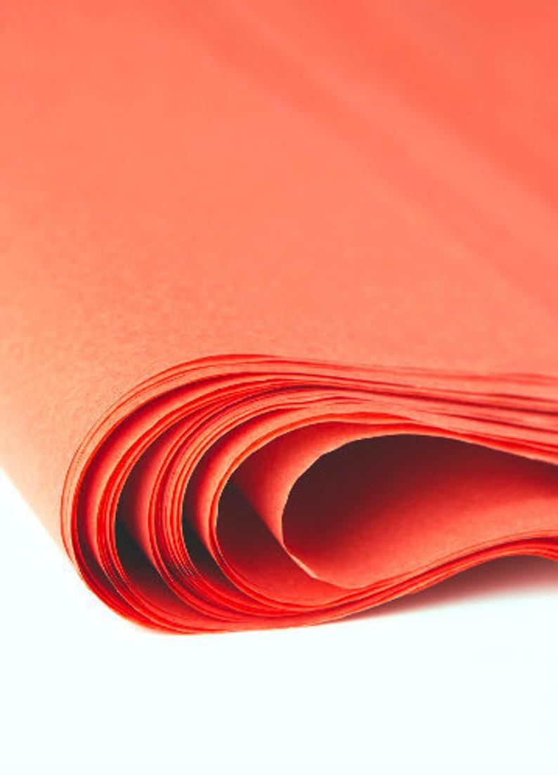Terracotta Burnt Orange Tissue Paper 24 sheets  Bulk Tissue