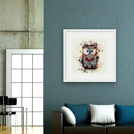 The owl, Fine Art Print by Marcelo Simioni