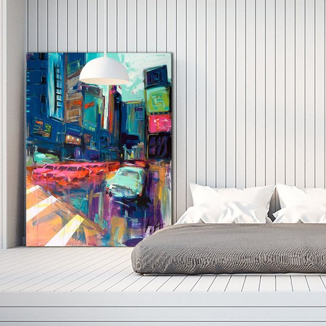 Trafic City Giant Canvas Print