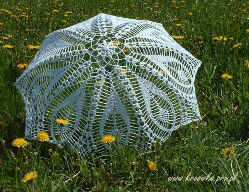 WHITE IVORY Wedding Umbrella Lace Umbrella Victorian