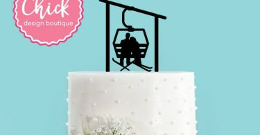 Winter Skiing Ski Lift Gondola Couple Bride and Groom Winter
