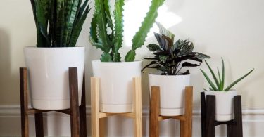 Wooden Planter Stands Potted Plant Stand Modern Planter