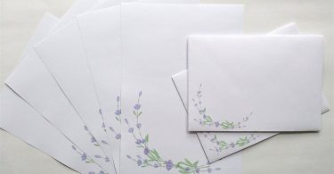 Writing Paper and Co-ordinating Envelope Packs Lavender Spray