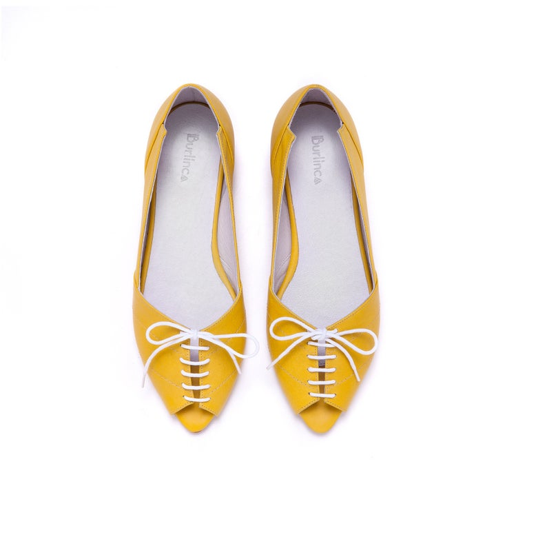 Yellow leather sandals women yellow shoes women's shoes