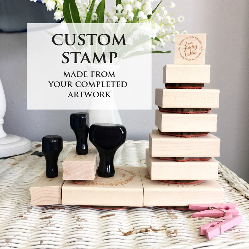 Your Custom stamp Business Stamp Wedding Stamp Image or