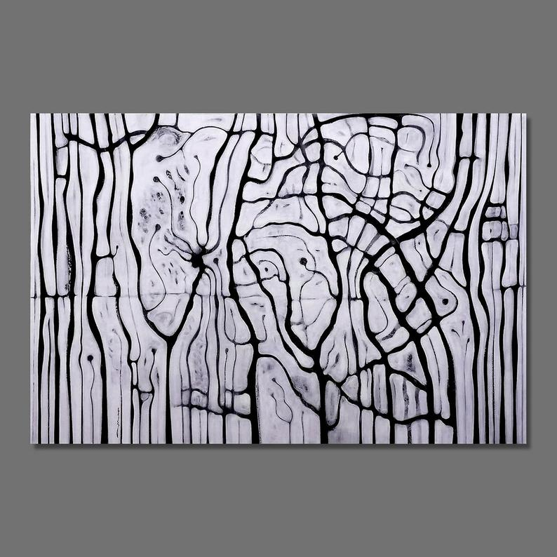 Abstract painting Black and White Modern Abstract Original