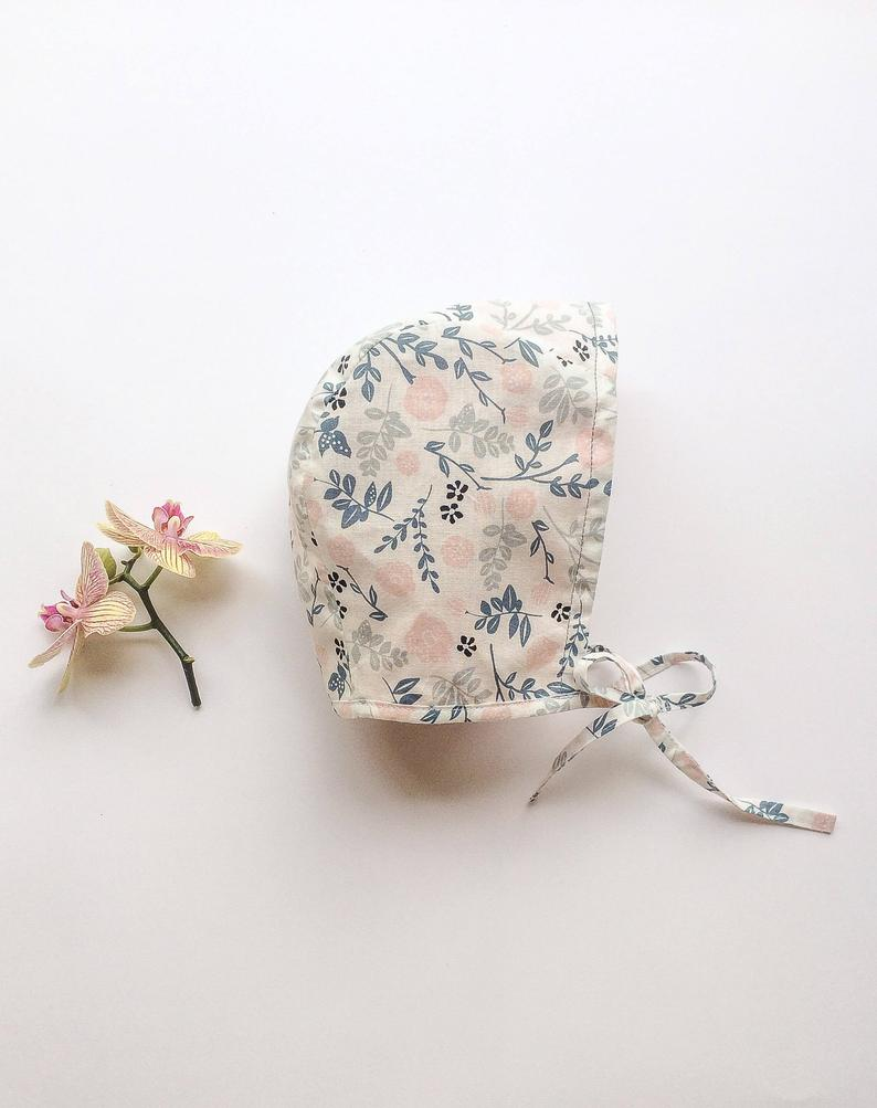 Baby bonnet cotton baby hat summer baby girl bonnet floral