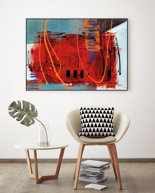 """Batitude"" Art Block Framed Canvas  by Giant Art"