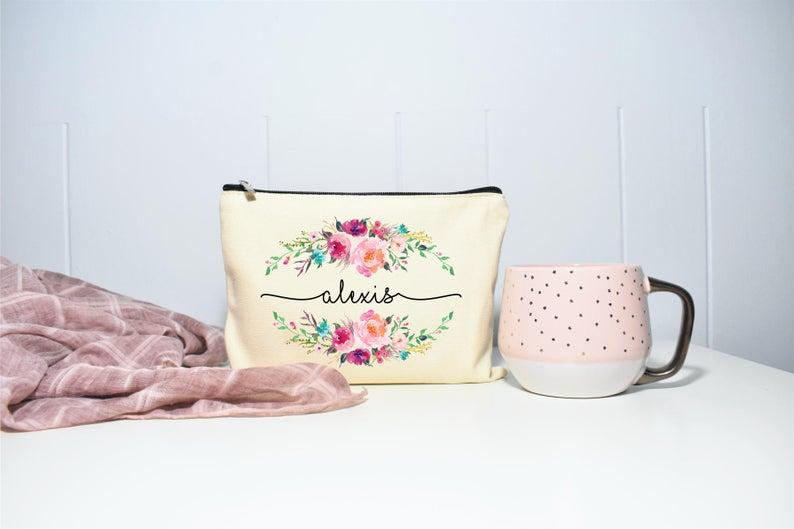 Best Friend Gift Makeup Case Personalized Makeup Bag