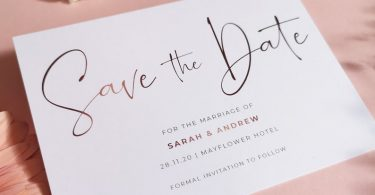 Blush Save the Dates Cards With Envelopes  Any Colour or