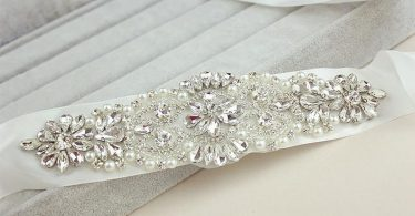 Bridal Rhinestone Sash Belt  Wedding Crystal Sash Belt Wedding