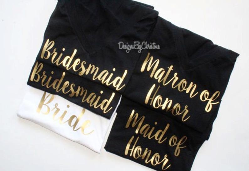 Bridesmaid Shirt  Bridal Party Shirts  Proposal Shirt
