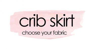 CUSTOM CRIB SKIRT. Choose your fabric. 3-sided crib skirt