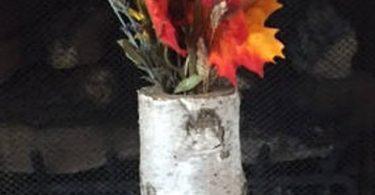 CUSTOM  white birch floor vases