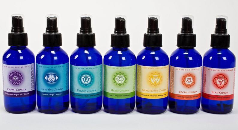 Chakra spray Set  7 chakra spray  seven chakra body spray