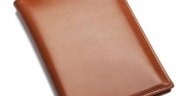 Cognac Leather Passport Holder by Sir Jack's