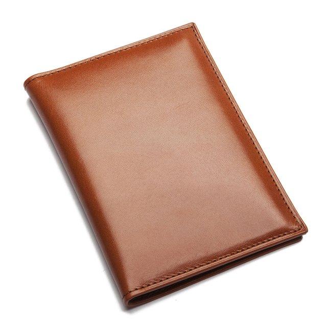 Cognac Leather Passport Holder by Sir Jack's