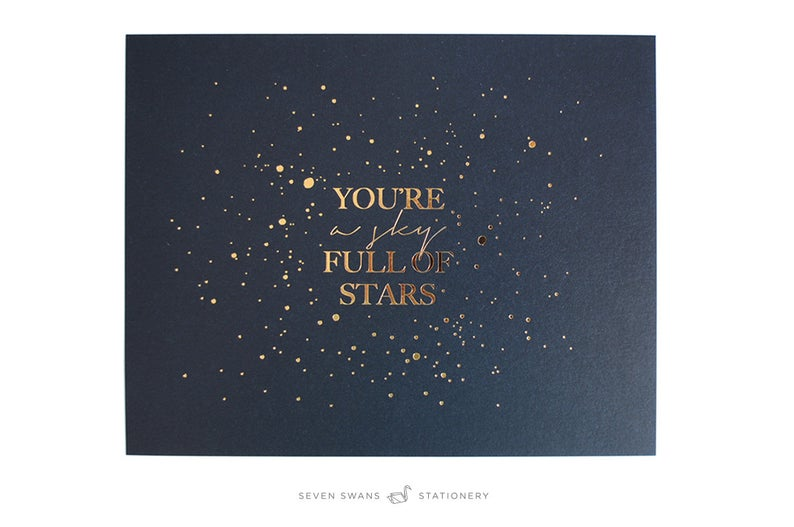 Coldplay letterpress lyrics You're a Sky Full of Stars