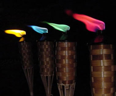 Color Tiki Torch Flames