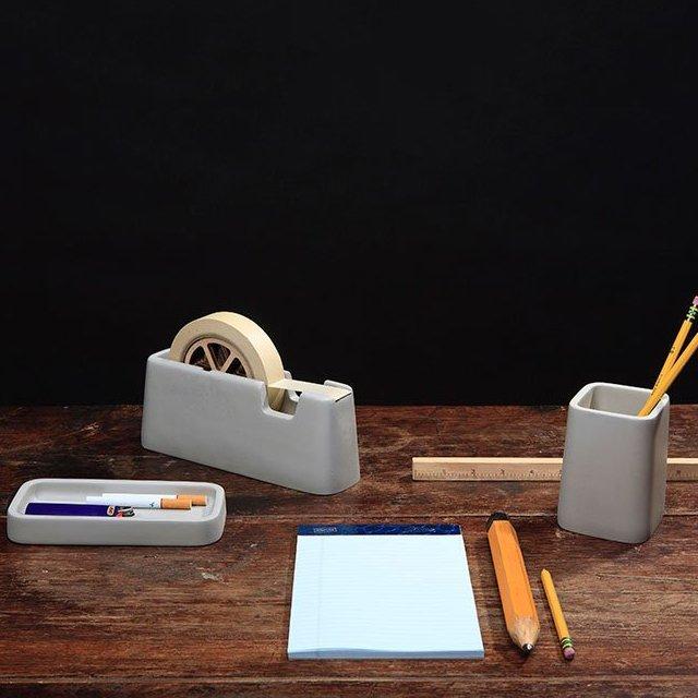Concrete Desk Accessories by Magnus Petterson