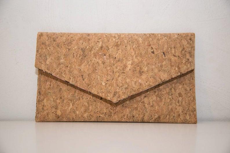 Cork Clutch-Eco Friendly Purse-Vegan bag-Handmade Bag-Gift for