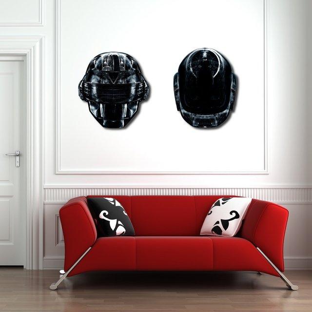 Daft Black Canvas Aluminium Cut by Rubiant