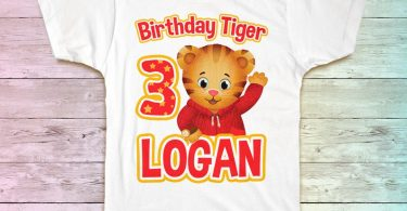 Daniel Tiger Birthday Shirt Daniel Tiger Family Birthday
