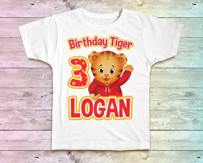 Daniel Tiger Birthday Shirt Daniel Tiger Family Birthday