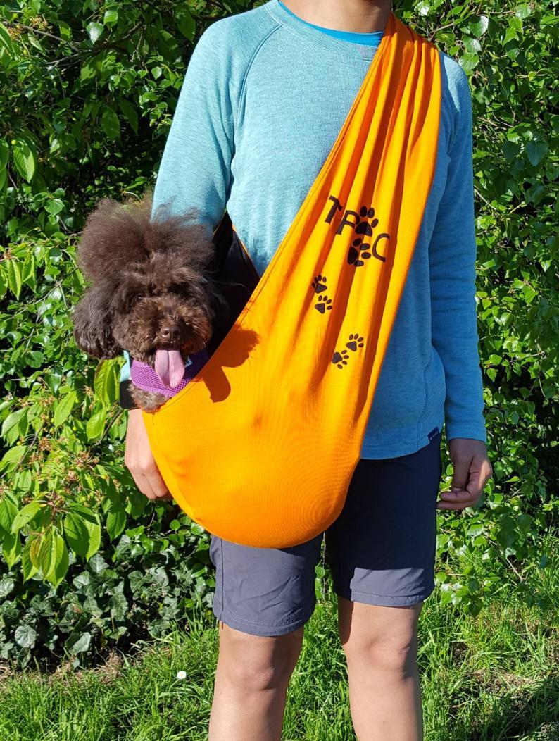 Dog Carrier. Customised Dog Sling. Dog Papoose. Dog Fleece