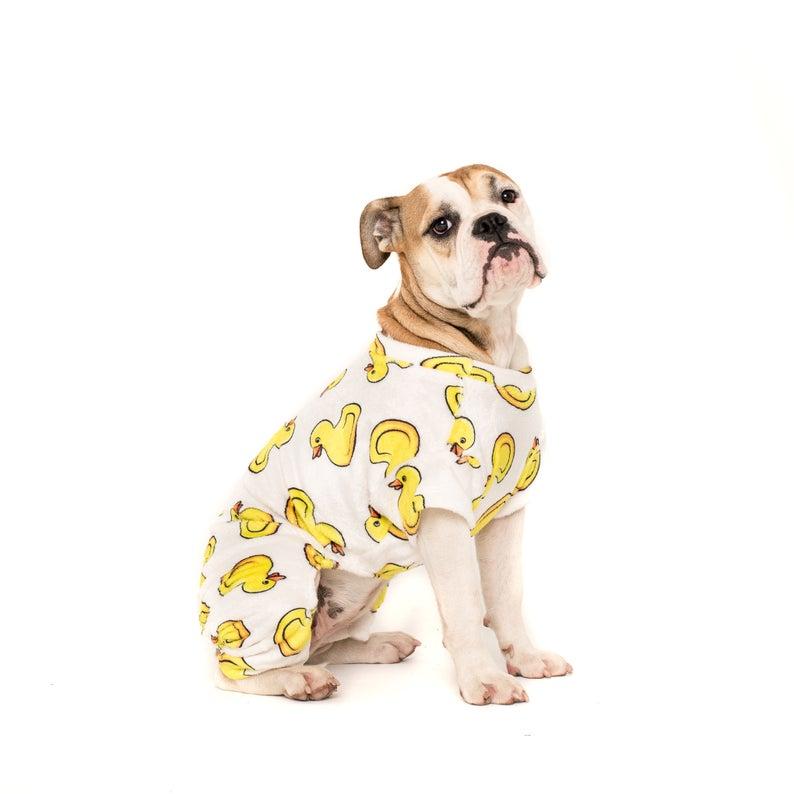 Dog Pyjama's Onesie Pet Duck PJs Pet Apparel Accessories