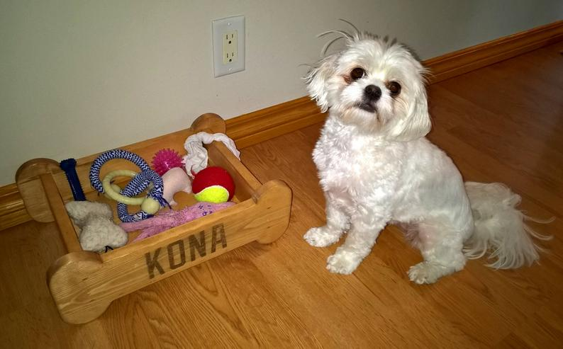 Dog Toy Box  Wood Customized Storage Box For Puppy Toys