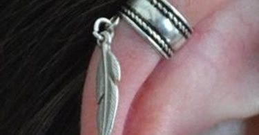 Ear cuff-Ear wrap-silver 925 ear cuff-cartilage cuff-fake