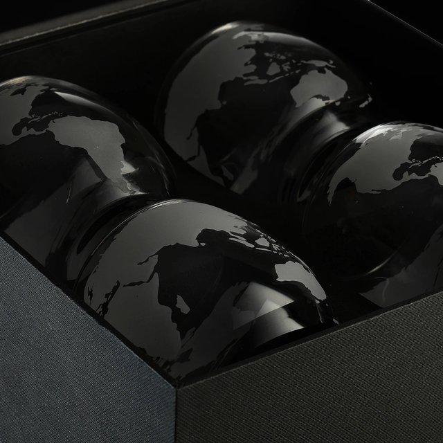Etched World Globe Glasses