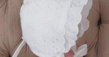 Extra Large Baby Bonnet Easter Bonnet Eyelet Baby Bonnet