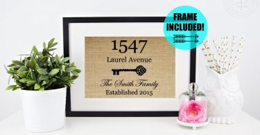 FRAME INCLUDED Housewarming Gift New House Gift Our First