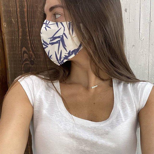 Face Mask Blue Bamboo