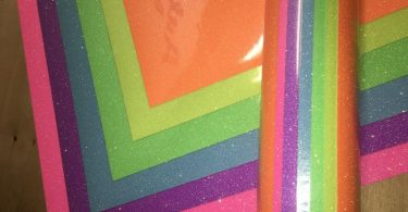 Glitter heat transfer vinyl Neon 8 color pack 12 x