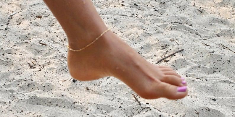 Gold Anklet Bracelet  Anklet Bracelet  Silver Anklet