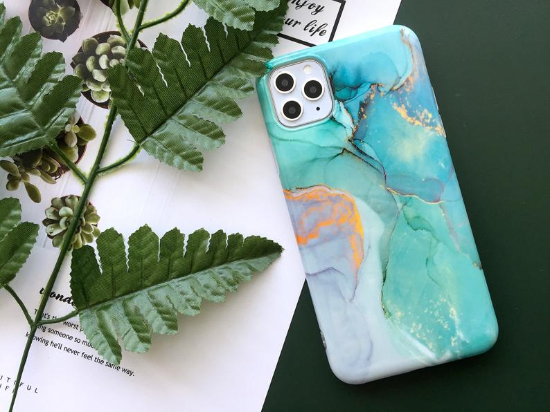 Green Marble Gilding iPhone case iPhone 6 case iPhone 8 case