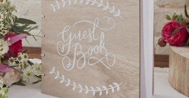 Guest Book Boho Wooden Wedding Guest Book Boho Party Guest