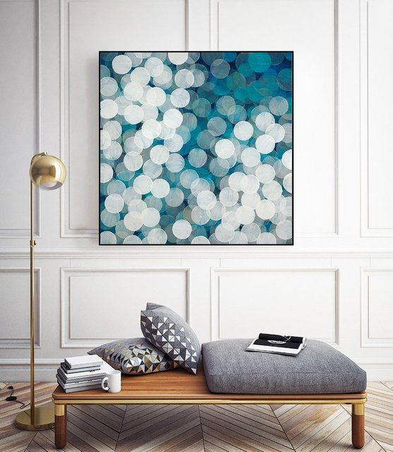 """""""Head in the Clouds"""" Art Block Framed Canvas  by Giant Art"""