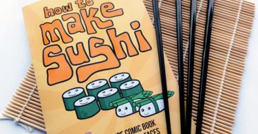 How to Make Sushi Recipe Comic Book Gift Set inc. Japanese