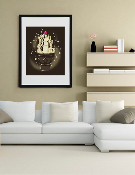 Ice Cream Bears, Fine Art Print by Tobe Fonseca