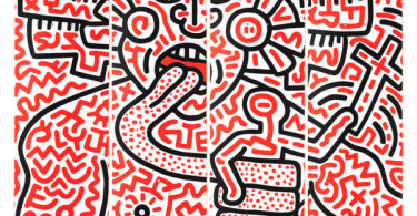 Keith Haring 4 Skateboard  Man and Medusa