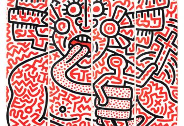 Keith Haring 4 Skateboard  Man and Medusa